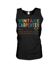 Vintage Carpenter Carpentry Jobs Unisex Tank thumbnail