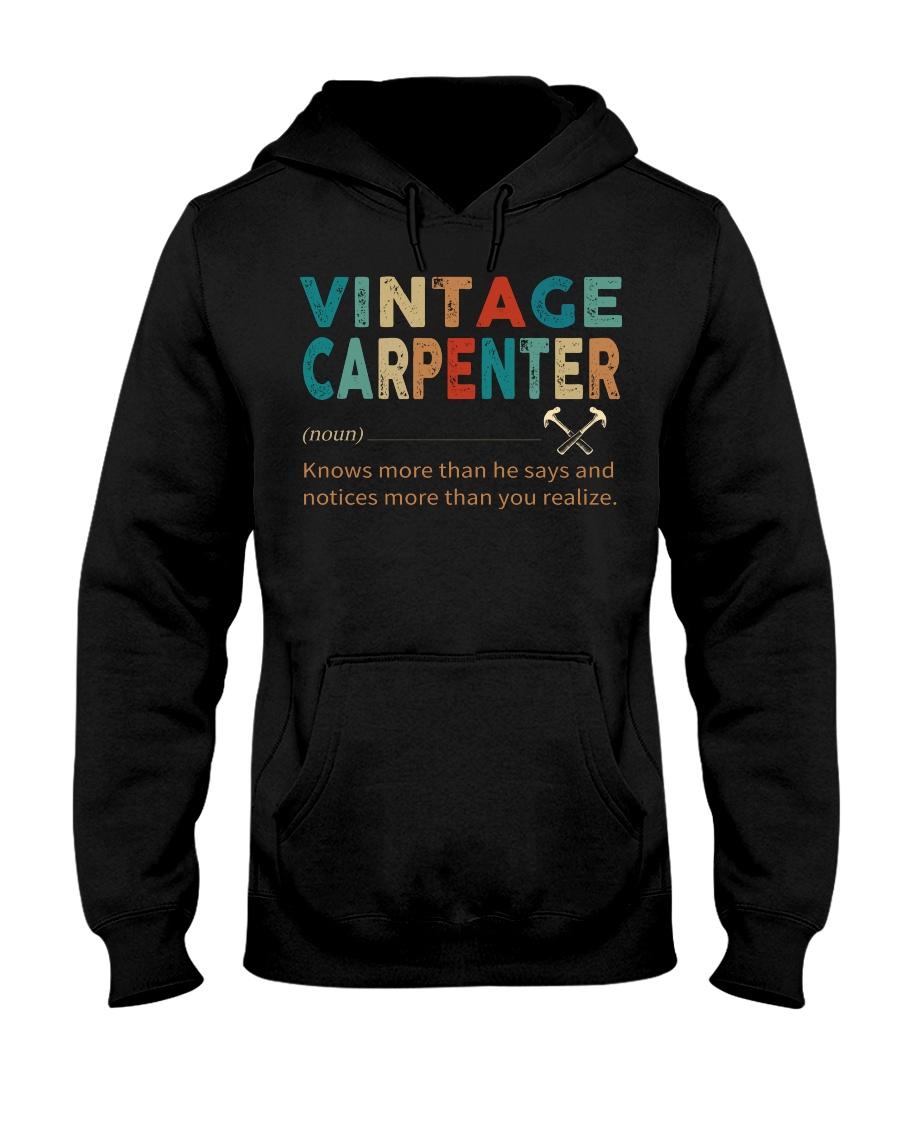 Vintage Carpenter Carpentry Jobs Hooded Sweatshirt