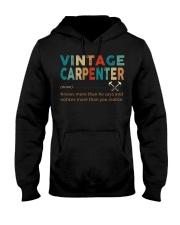 Vintage Carpenter Carpentry Jobs Hooded Sweatshirt front
