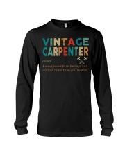 Vintage Carpenter Carpentry Jobs Long Sleeve Tee thumbnail