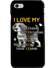 I Love My Beagle Dog Phone Case thumbnail