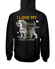 I Love My Beagle Dog Hooded Sweatshirt back