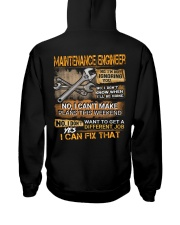 Maintenance Engineer Hooded Sweatshirt back