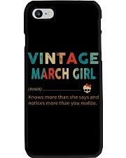 Vintage March Girl Phone Case thumbnail
