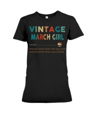 Vintage March Girl Premium Fit Ladies Tee thumbnail