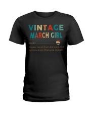 Vintage March Girl Ladies T-Shirt thumbnail