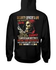 Security Officer Hooded Sweatshirt back