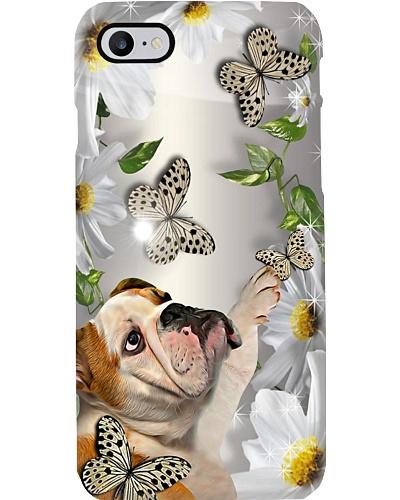 Bulldog Flower Phone Case