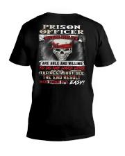 Prison Officer V-Neck T-Shirt thumbnail