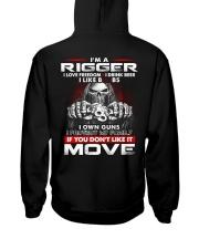 Rigger Exclusive Shirt Hooded Sweatshirt back