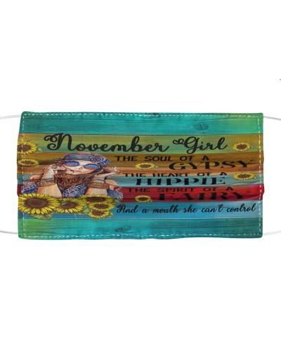 November Girl Face Mask