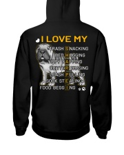 I Love My Shar Pei Dogs Hooded Sweatshirt back