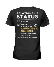 Manufacturing Engineer Ladies T-Shirt back
