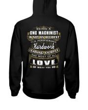 CNC Machinist Exclusive Shirt Hooded Sweatshirt back