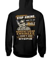 Manufacturing Engineer Hooded Sweatshirt back