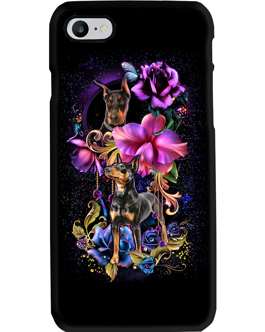 Doperman Pinscher Dog Flower Phone Case Phone Case