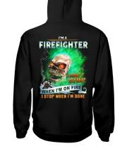 Firefighter Hooded Sweatshirt back