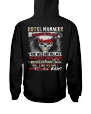 Hotel Manager Hooded Sweatshirt back