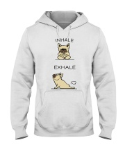 French Bulldog Inhale Exhale Hooded Sweatshirt thumbnail