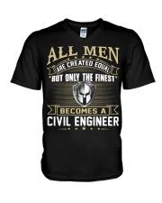 Civil Engineer V-Neck T-Shirt thumbnail