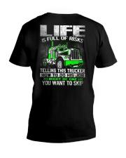 Truck Driver V-Neck T-Shirt thumbnail