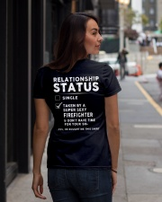 Firefighter Job Relationship Status Ladies T-Shirt lifestyle-women-crewneck-back-1