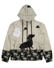 Dachshund All Over Shirt Women's All Over Print Full Zip Hoodie thumbnail