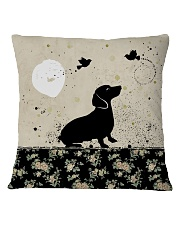 Dachshund All Over Shirt Square Pillowcase thumbnail