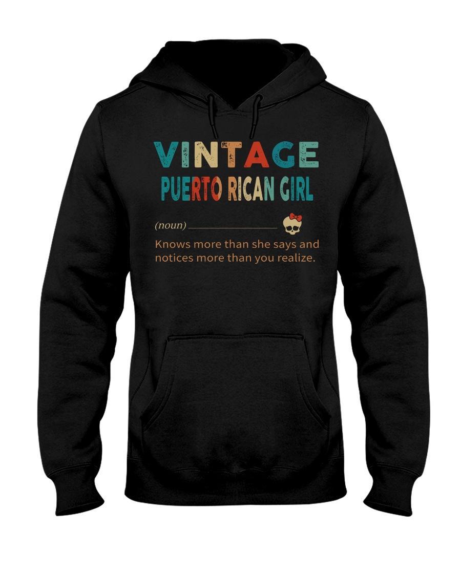 Vintage Puerto Rican Girl Hooded Sweatshirt