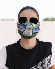 West Highland White Terrier Cloth face mask aos-face-mask-lifestyle-02