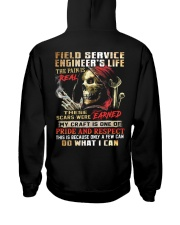 Field Service Engineer Hooded Sweatshirt back