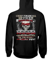 Chief Financial Officer Hooded Sweatshirt back
