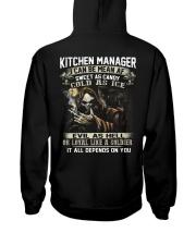 Kitchen Manager Hooded Sweatshirt back