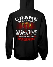 Crane Operator7 Hooded Sweatshirt back