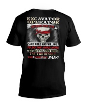 Excavator Operator V-Neck T-Shirt thumbnail