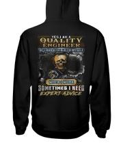 Quality Engineer Hooded Sweatshirt back