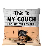 Yorkshire Terrier Personalized Text Square Pillowcase front