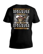 Machine Operator V-Neck T-Shirt thumbnail