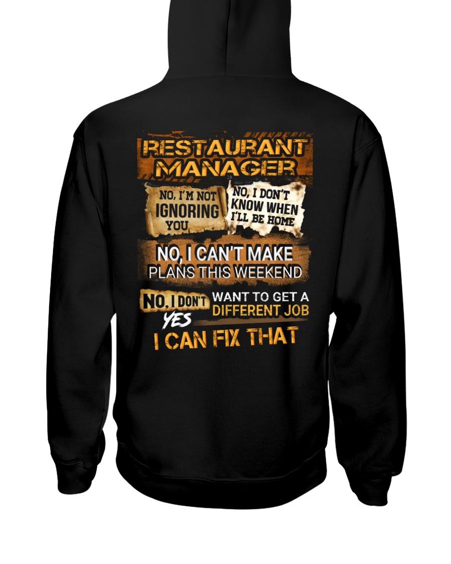 Restaurant Manager Hooded Sweatshirt