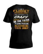 Flight Attendant V-Neck T-Shirt thumbnail