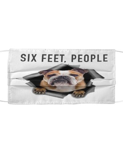Bulldog 6 Feet People Face Mask
