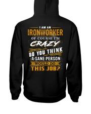 Ironworker Hooded Sweatshirt back