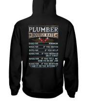 Plumber Hooded Sweatshirt back