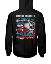 Marine Engineer Hooded Sweatshirt back