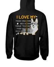 I Love My Corgi Dog Hooded Sweatshirt back