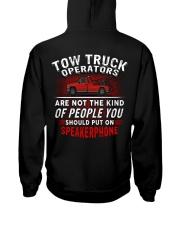 Tow Truck Operator Hooded Sweatshirt back