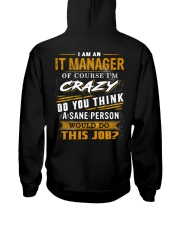 IT Manager Hooded Sweatshirt back