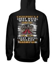 Sheet Metal Worker Hooded Sweatshirt back