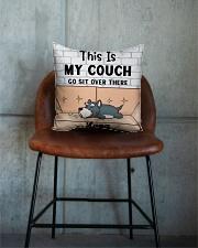 Schnauzer Personalized Text Square Pillowcase aos-pillow-square-front-lifestyle-04