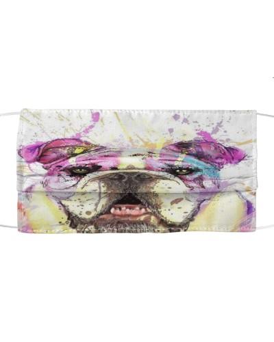 Bulldog Art Face Mask